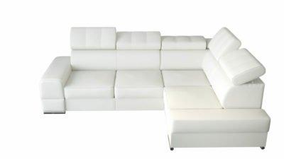 Narożnik tapcerowany rozkładany rogówka sofa łóżko meble salonowe funkcja spania pojemnikiem na pościel tkaniny amore eko skóra skóra