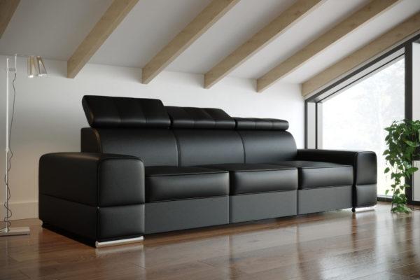 Sofa rozkładana skórzana Royal III