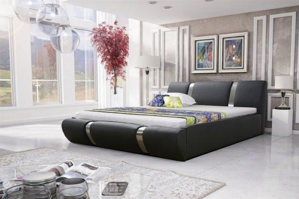 Łóżko tapicerowane sypialniane skóra tkanina drewniane nowość