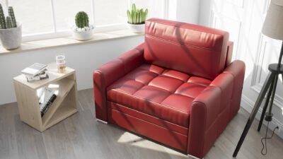 Fotel skórzany rozkładany Verona 100