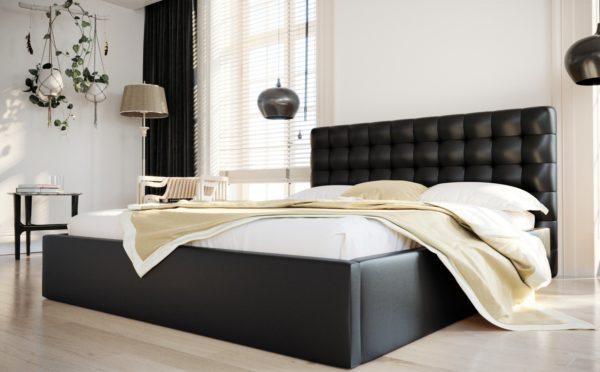lozko-tapicerowane-piekne-zaglowek-pikowany-140-160-180-200-ze-stelazem-pojemnikiem-loft-czarne-eko-skora