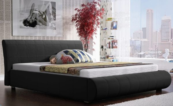 Łóżko łoże meble do sypialni sypialniane tapicerowane Lana