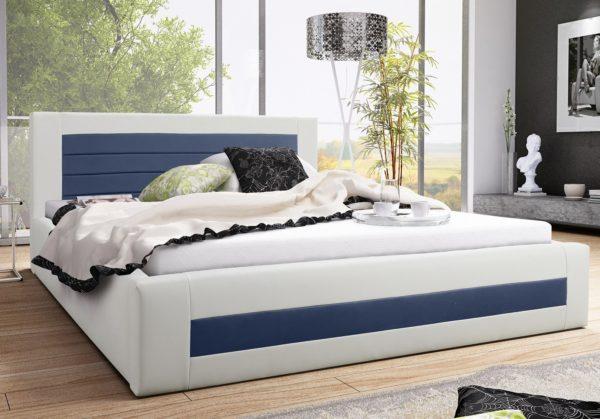 Łóżko łoże tapicerowane sypialniane meble do sypialni małżeńskie podwójne od producenta