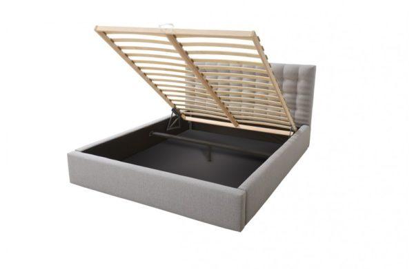 Łóżko tapicerowane sypialniane podwójne łoże venti eko skóra podwójne