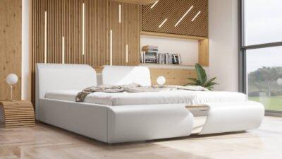 łóżko sypialniane tapicerowane