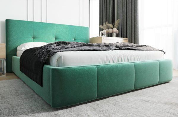 lozko-tapicerowane-venti-140-160-180-200-z-pojemnikiem-stelazem-welwet-zielony