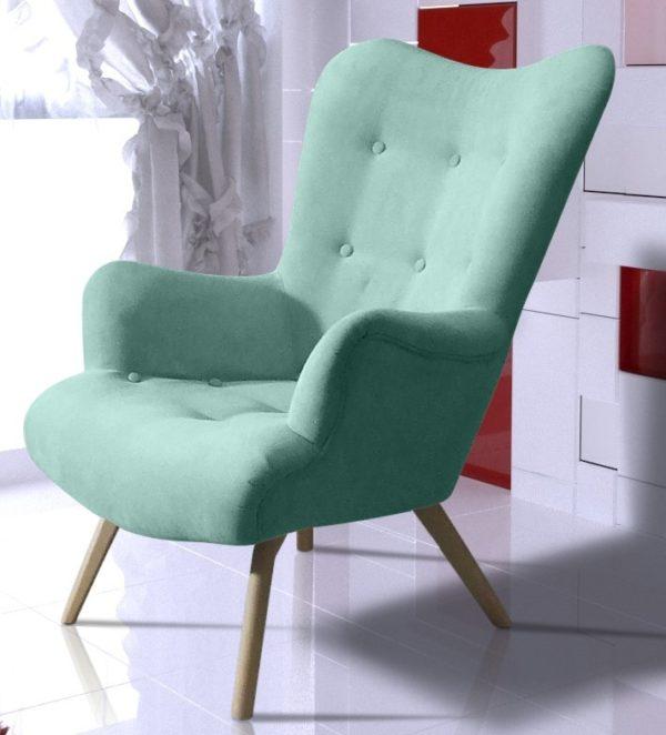 Fotel W Stylu Skandynawskim Uszak Flori