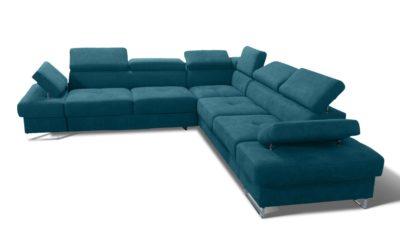 Narożnik Tapicerowany Galaxy Max rozkładany sofa narożna kanapa rogówka funkcją spania pojemnikiem na pościel meble górecki tkanina skóra NAROŻNIK GALAXY MAX 280x280