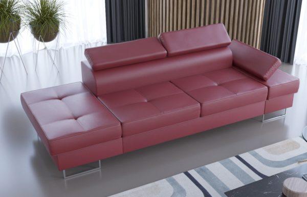sofa-dwuosobowa-nowoczesna-galaxy-szezlong-czerwona