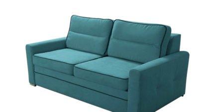 sofa dwuosobowa z funkcja spania, z pojemnikiem na pościel