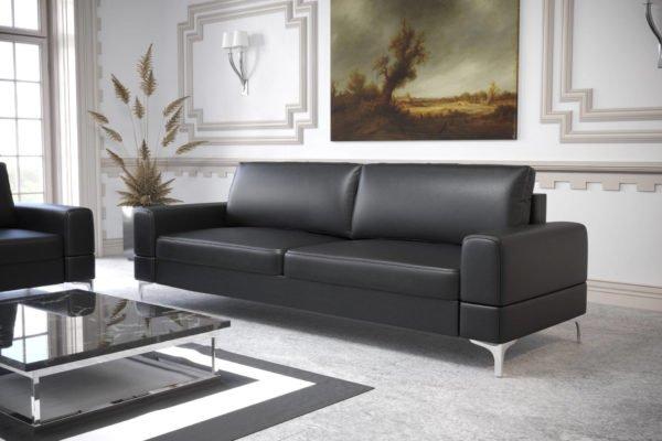 sofa-dwuosobowa-rozkladana-pojemnik-na-posciel-aria-na-wysokich-nozkach-eko-skora-czarna