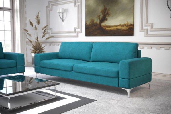 sofa-dwuosobowa-rozkladana-pojemnik-na-posciel-aria-na-wysokich-nozkach-turkusowa