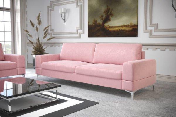 sofa-dwuosobowa-rozkladana-pojemnik-na-posciel-aria-na-wysokich-nozkach-welwet-pudrowy-roz