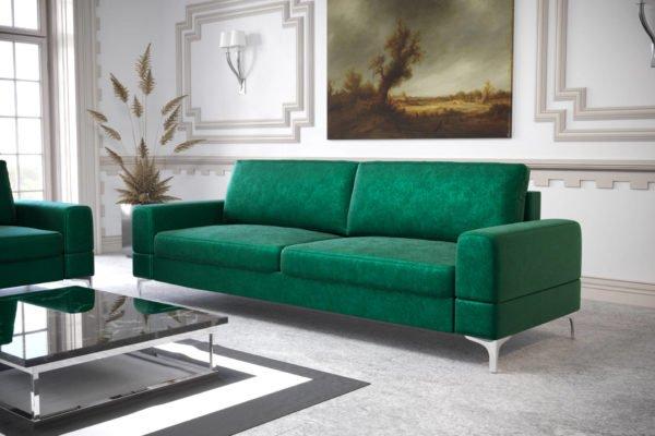 sofa-dwuosobowa-rozkladana-pojemnik-na-posciel-aria-na-wysokich-nozkach-welwe-butelkowa-zielen