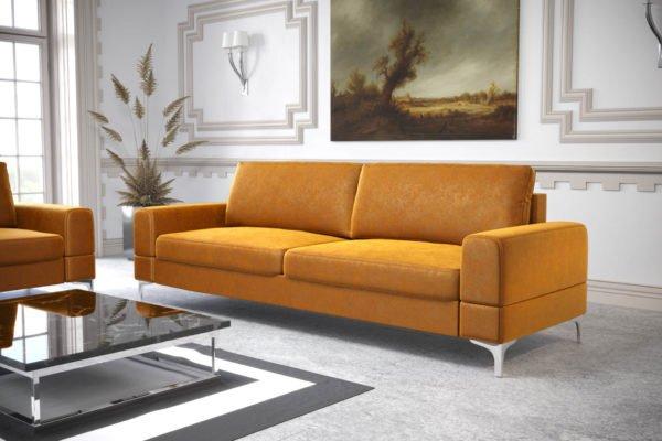 sofa-dwuosobowa-rozkladana-pojemnik-na-posciel-aria-na-wysokich-nozkach-zolta-welwet-zlota