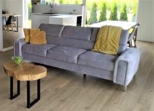 Sofa trzyosobowa kanapa Orion z ruchomymi zagłówkami