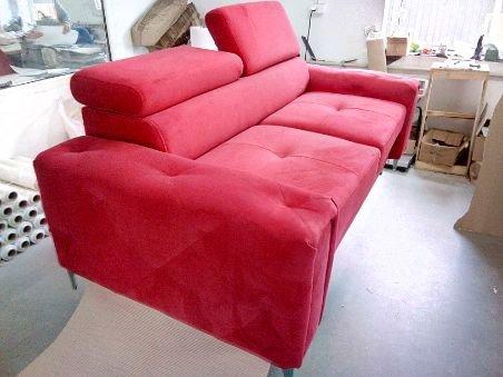 Sofa dwuosobowa kanapa Orion z ruchomymi zagłówkami