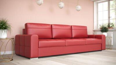 Sofa trzyosobowa Verona DL skórzana z funkcją spania